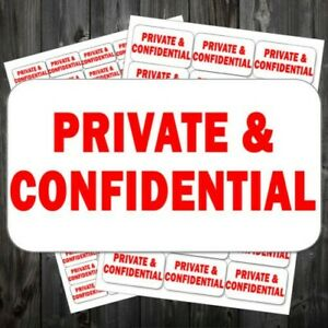 Private Confidential Small Labels And Stickers Self Adhesive Printed acb