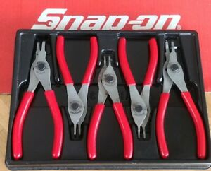 Snap On Tools 5 Pc Fixed Tip Convertible Snap Ring Pliers Set Srpcr105