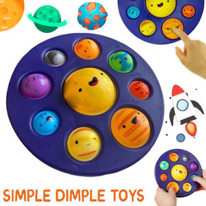 Baby Fidget Sensory Toys Eight Planets Solar System Simple Dimple Stress Relief