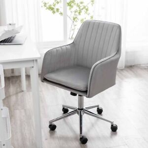 Velvet Fabric Home Office Desk Modern Adjustable Swivel Chair With Arms