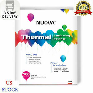 Nuova Premium Thermal Laminating Pouches 9 X 11 5 3 Mil 200 pack