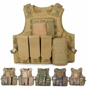 Airsoft Tactical Vest Military Molle Combat Vest for Outdoor Training CS Game $45.99