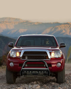 For 2005 2015 Toyota Tacoma Pickup Bull Bar Front Bumper Grille Guard Black