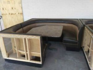 2 7ft Restaurant Corner Booth Seats And Table