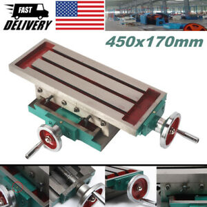 Milling Machine Compound Work Table Cross Slide Bench Table Drill Vise 45x17cm