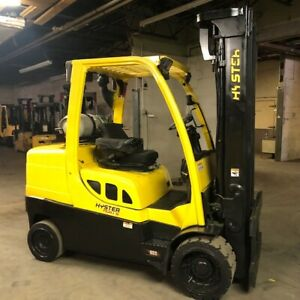 2012 Hyster S100ft 10000lbs Used Forklift W triple Mast Sideshift Lp Gas