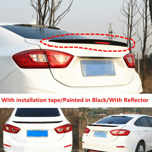 Glossy Black Factory Trunk Spoiler Wing Fit For Chevy Cruze Sedan 2017 2018 2019