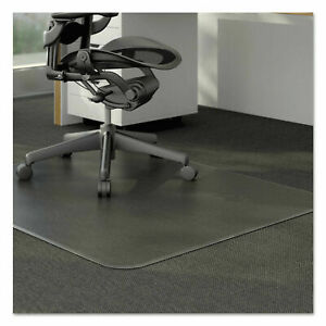 60 X 48 Clear Pvc Carpet Rug Protective Chair Mat Pad Rolling For Floor Office