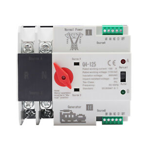 2p 100a 110v Dual Power Automatic Transfer Switch Generator Changeover Switch