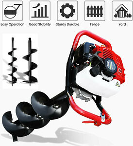 52cc 2 5hp Gas Powered Post Hole Digger With 6 10 Earth Auger Digging Engine