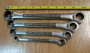 Usa Made Craftsman Ratcheting Double Box End Wrench Set Sae Inch Standard 4p