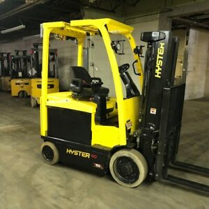 2015 Hyster E50xn 33 5000lbs Used Forklift W triple Mast Sideshift Fork Position