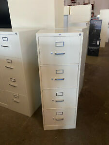 4dr Legal Size File Cabinet By Hon Office Furniture In Putty Color W Lock Key
