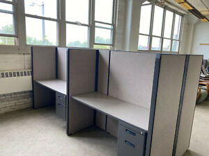 Pod Of 4 Cubicles partitions By Herman Miller 5ftx2ftx62 h