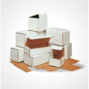 8x6x2 White Corrugated Mailing Shipping Boxes Packing Cardboard Cartons