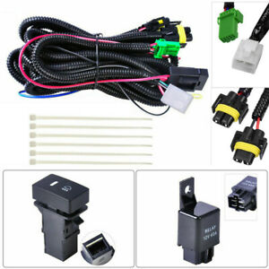 H11 Fog Light Wiring Led Indicators Switch Harness Sockets Wire 12v 40a Relay Us