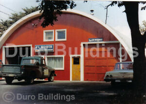 Durospan Steel 33x32x15 Metal Quonset Ag Barn Diy Building Kit Open Ends Direct