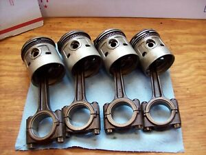 Farmall Cub Ih Engine Pistons high Compression Complete With Connecting Rods