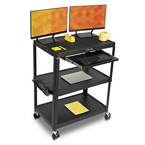 Line Leader Extra Wide Av Cart With Lockable Wheels 20 W X 32 L X 42 H