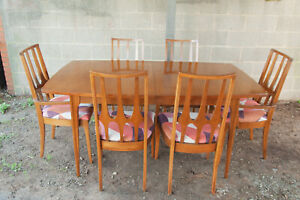 Broyhill Brasilia Mid Century Dining Table And Chairs