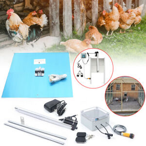 Automatic Chicken Coop Door Opener Infrared Sensor W 2 Remotes 66w Time Control