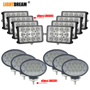Complete Led Work Light Kit For John Deere Sts Series 9560sts 9570sts 9650sts