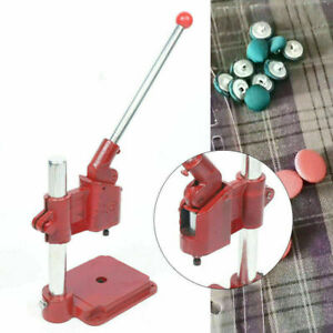Manual Hand Press Machine Round Mould Fabric Cover Button Beautiful Red Color $60.82