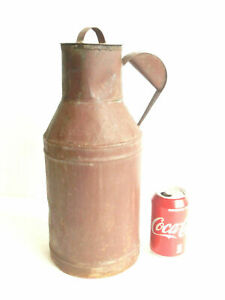 Antique Vintage Galvanized Milk Churn Pail French Style Jug 1 32 Gallons Rustic