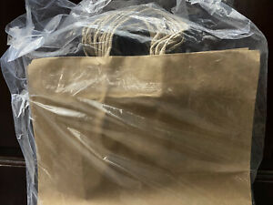Natural Kraft Paper Shopping Bags With Handles 16 l X 6 d X 12 h Case Of 100