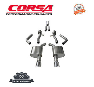 Corsa Performance 14995 Sport Cat Back Exhaust System Fits 15 19 Charger