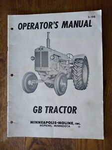 S 188 Minneapolis Moline Owner s Manual Gb Tractor Agricultural Farm Book