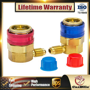 2 R134a High low Couplers Auto Quick Connector Adapter A c Manifold Gauge Hvac