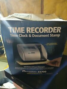 Acroprint Time Recorder Time Clock Document Stamp Es700