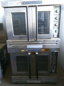 Bakers Pride Commercial Double Deck Gas Convection Oven