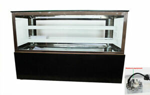 220v 48 refrigerated Cake Pie Showcase Bakery Display Case Cabinet With Moisture
