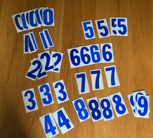 Lot Of 41 Vintage Reader Board Blue Marquee 4 Numbers Multiples Of All Number