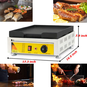 17 3 17 Inch Commercial 110v Countertop Electric Griddle Flat Grill Teppanyaki