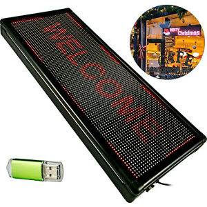 40 X 15 Led Scrolling Sign Red Led Sign Message Board For Outdoor Advertising