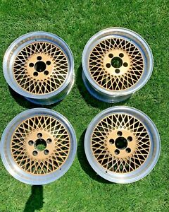 Rare Fox Mustang Saleen Mesh Wheels Staggered Two Piece Rims Set Of Four 4