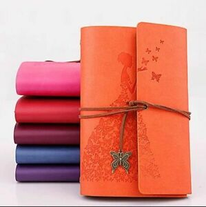 Journal Diary Notebook Writing Book Leather Cover Girl Lady Women Men