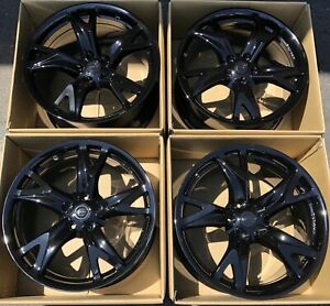 19 Nissan 370z 370 Forged Wheels Factory Oem Rims Gloss Black Rays Set Of 4