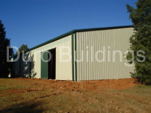 Durobeam Steel 60x88x10 15 Metal I beam Clear Span Single Slope Building Direct