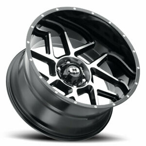 20x12 51 Vision Sliver Wheels 35 Mt Tires Package 8x6 5 Chevy Gmc 8 Lug