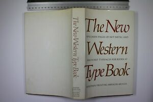 New Western Type Book Page Specimens 1980 New Revised Edition Hbk