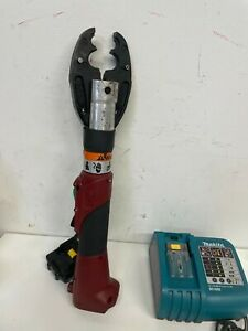 Burndy 18v Patmd li Actuated Crimp Tool With Makita 18v Battery And Charger