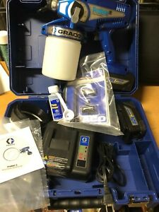 Graco Proshot Ii Cordless Paint Sprayer 1 Battery Charger Case