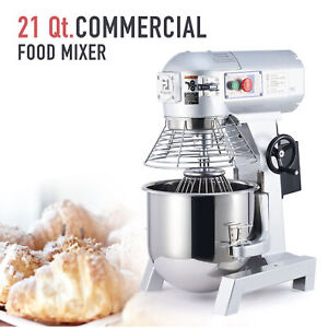 20qt Commercial Stand Mixer 1100w Electric Food Mixing Machine W 3 Attachments
