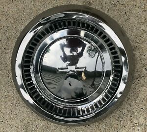 1964 Chevrolet Bel Air Biscayne 10 1 2 Chrome Dog Dish Poverty Hubcap