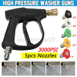 3 8 High Pressure Washer Water Guns Jet Trigger Quick Spray With 5 Nozzles