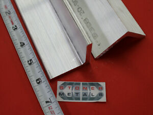 2 Pieces 2 x 2 x 1 4 Aluminum 6061 Angle Bar 6 Long T6 Extruded Mill Stock
